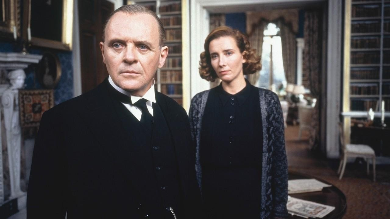 Anthony Hopkins eta Emma Thompson, Stevens jauna eta Kenton andrea, 1993ko filmean. /
