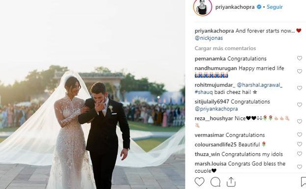 ¿Quién es el diseñador del vestido de novia de Priyanka Chopra?