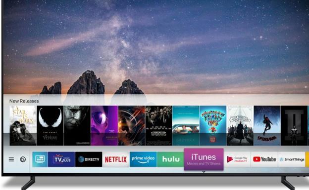 Apple ofrecerá películas y programas de iTunes en televisores Samsung