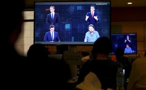 El debate de RTVE fue visto por 8.886.000 espectadores