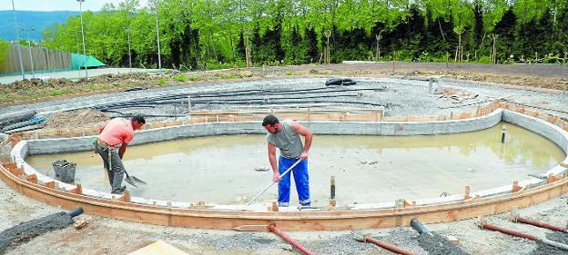 Las piscinas de Txingudi van tomando forma El Diario Vasco