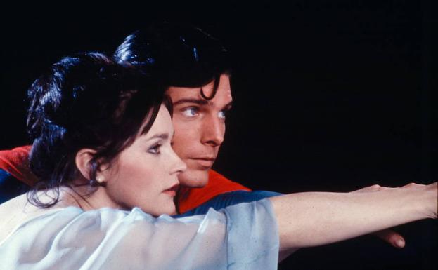 Margot Kidder y Christopher Reeve en Supermán 2.