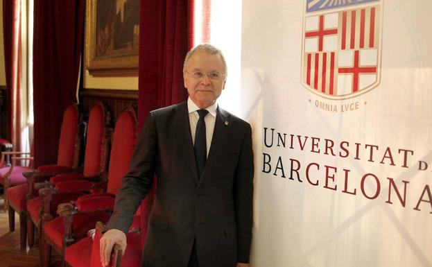 El rector de la Universidad de Barcelona, Joan Elias Garcia.