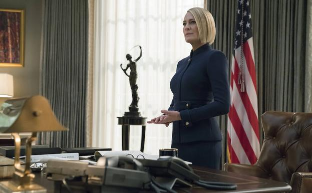 Robin Wright, en el papel de Claire Underwood./