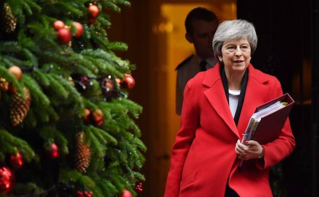 La Primera Ministra británica, Theresa May./AFP