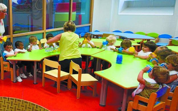 Comedor de un centro educativo escolar vasco. / USOZ
