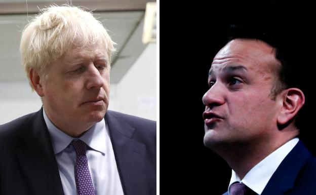 Boris Johnson y Leo Varadkar./