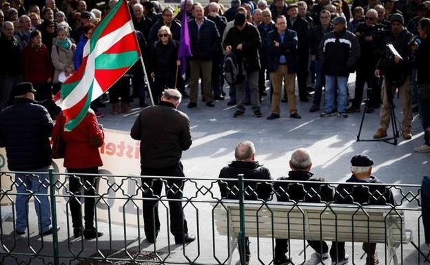 Gipuzkoa Rentner bleiben auf die Unterstützung für den Streik 30-E geteilt