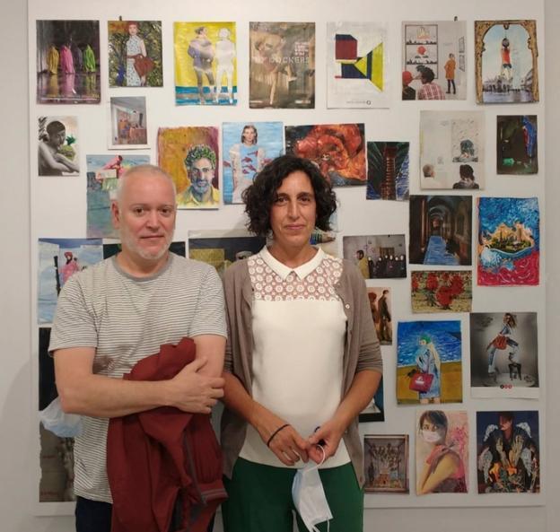 Los profesores Xabier Arribas y Rakel Salinas en la academia en una imagen de archivo correspondiente al pasado curso./