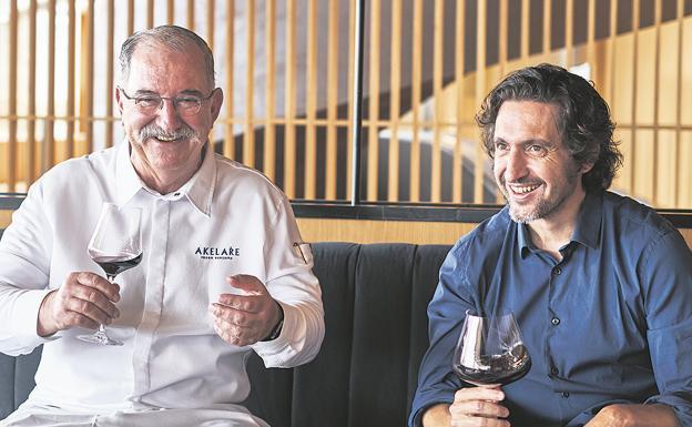 Pedro Subijana y José Ramón Urtasun se reunieron el pasado mes de agosto para celebrar el aniversario de oro de Akelarre.