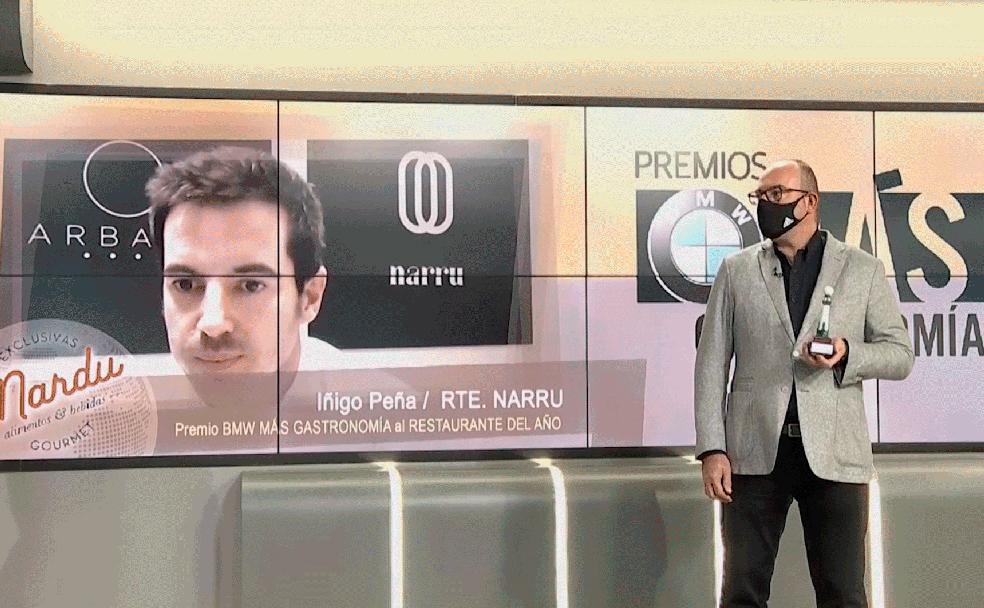 Premio BMW Plus de Gastronomía al Mejor Restaurante 2020 por Naru, Isigo Pena
