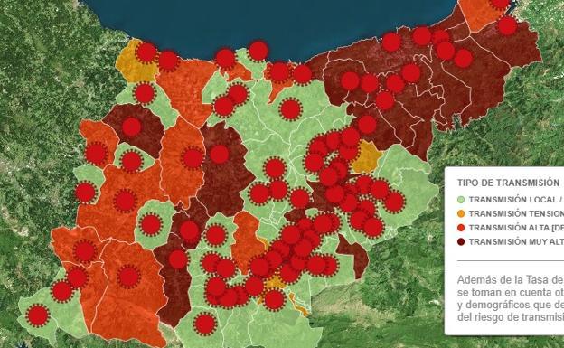 Consulta la incidencia del Covid en cada localidad de Gipuzkoa.