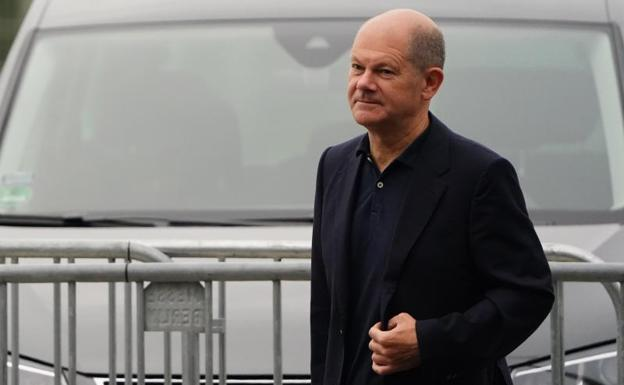 The Social Democratic leader and main candidate to occupy the German Chancellery Olaf Scholz