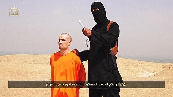 James Foley, justo antes de ser decapitado. /