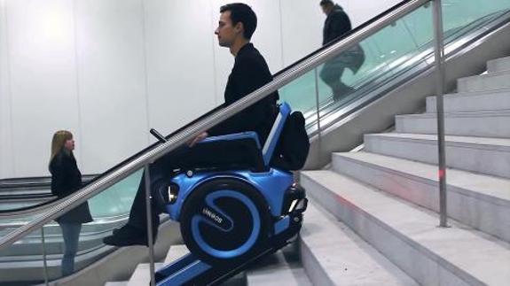 La silla de ruedas del futuro se mueve como un segway el for Silla de ruedas para subir escaleras