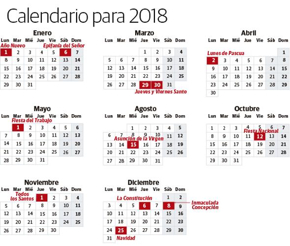 navidad 2018 calendario Calendario laboral de 2018: aprobado sin fecha aún para el Día de  navidad 2018 calendario